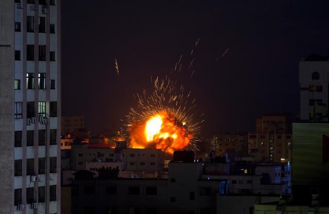 """[글로벌포토] """"중동의 '화약고'"""" 이스라엘·팔레스타인 무장세력 충돌 격화"""