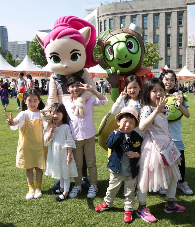 라인프렌즈 런닝맨 어린이날 행사 성료...복지부 홍보대사 위촉