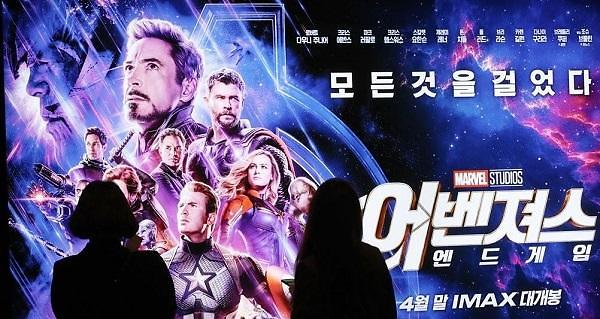 《复联4》成韩国第二卖座的外国影片