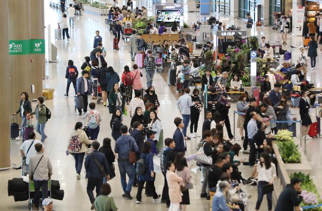 仁川机场迎客流高峰