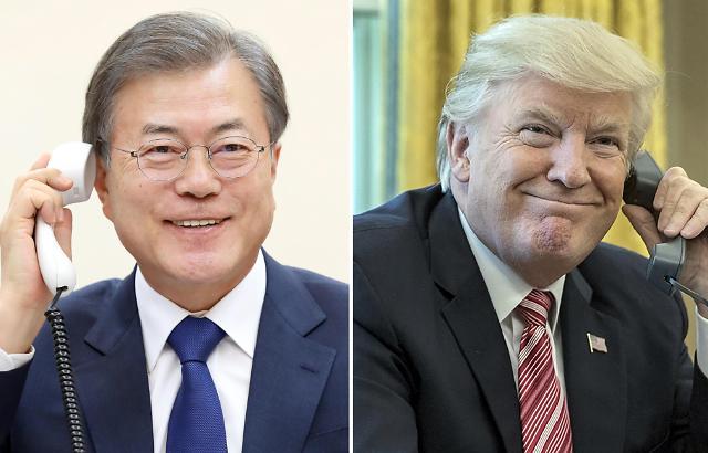 韩美首脑通话讨论尽快重启无核化谈判
