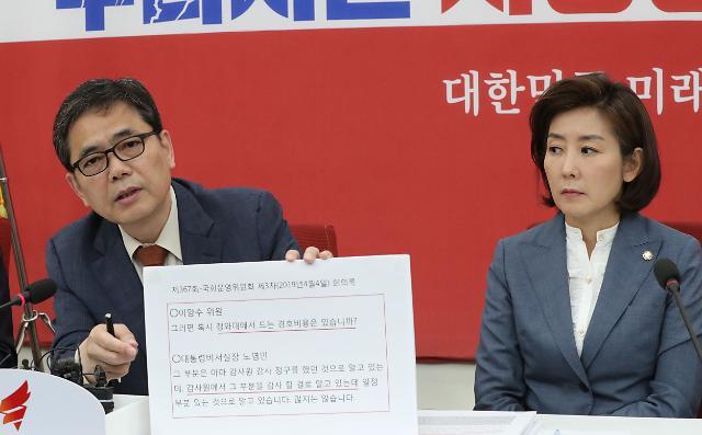 """한국당, 문다혜 의혹 TF 발족…""""감사원 감사 의지 있는지 의심"""""""