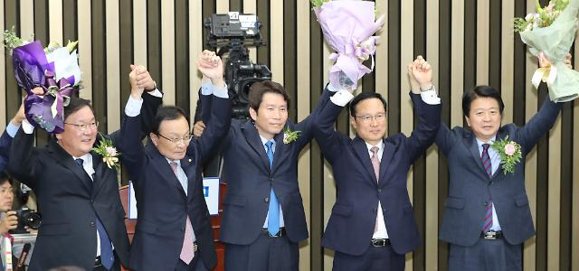 """민주당 새 원내대표에 이인영…""""강력한 통합 이뤄 총선 승리"""""""