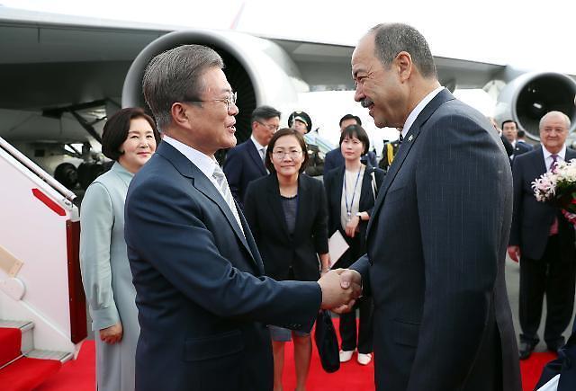 """韩汽车业将参与文在寅""""新北方政策"""" 计划在乌兹别克斯坦建电动汽车厂"""