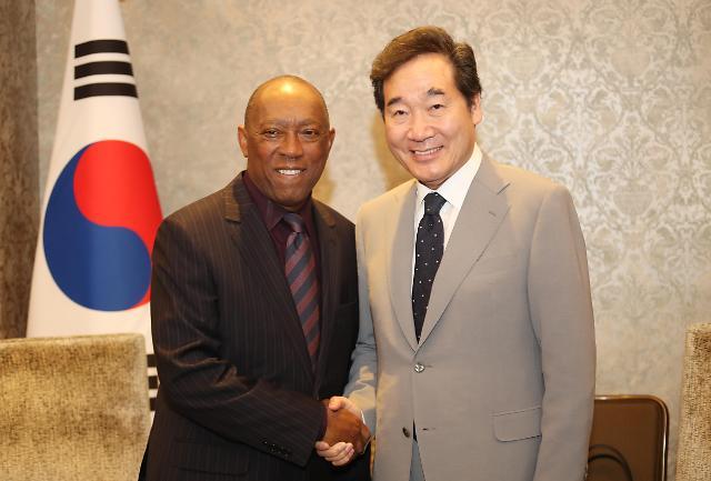 韩国总理李洛渊访美 明日出席乐天化学竣工仪式