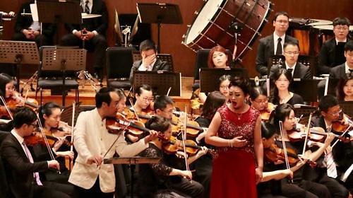 韩朝音乐家在沪同台演出 共谱和平乐章