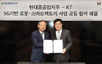 KT-現代重工業持株、「5G基盤のロボット・スマートファクトリープラットフォーム」共同開発