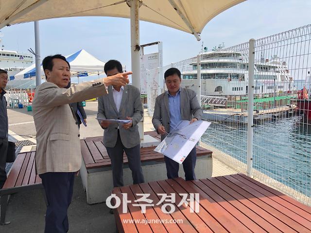 FINA 오픈워터 수영경기장 시설 점검