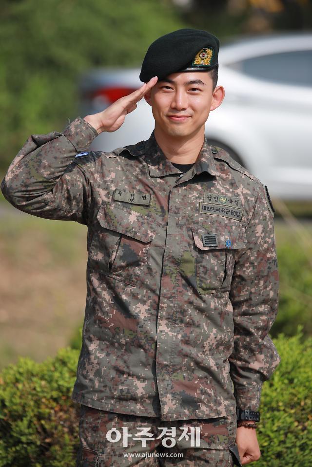 [포토] 전역 신고하는 2PM 옥택연