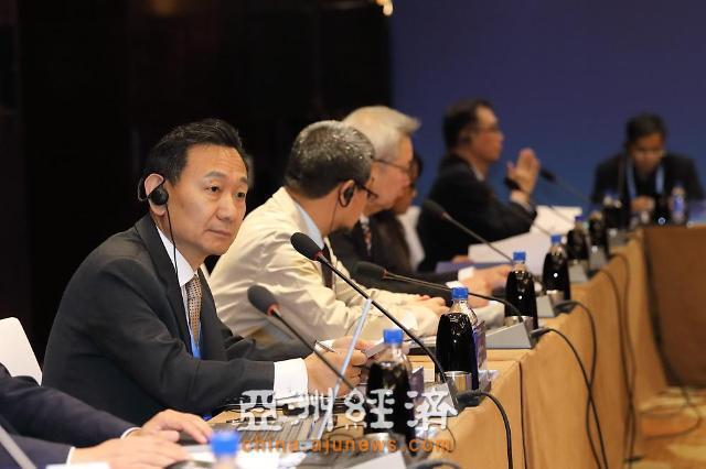 """《亚洲日报》代表梁圭铉出席""""亚文会""""并发言"""