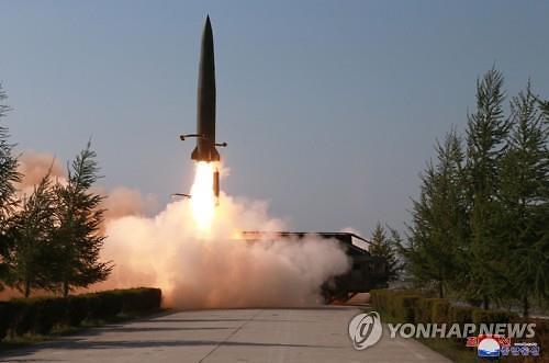 """주한미군 """"북한이 쏜 발사체는 모두 탄도미사일"""" 결론"""
