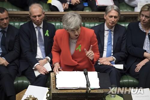 英메이 총리 6월 초 사퇴 시기 공표...브렉시트 불확실성 여전