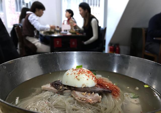 韩国餐饮价格普涨 冷面平均价超50元