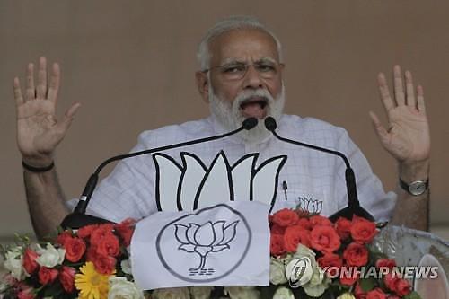인도 총선 출구조사서 여당연합 승리 전망..모디 연임 유력