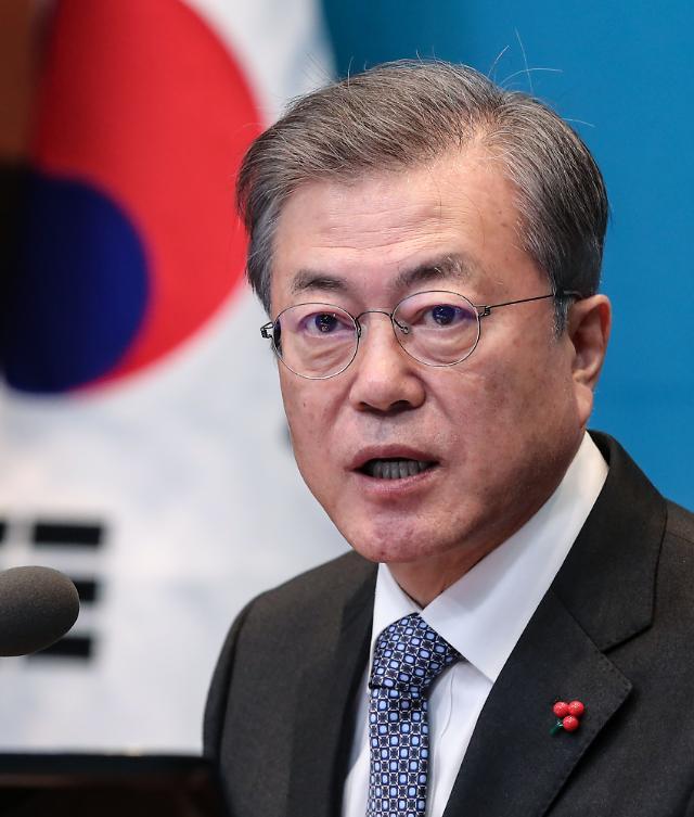문재인 대통령 지지율 50% 근접…민주·한국당 격차 두 자릿수'