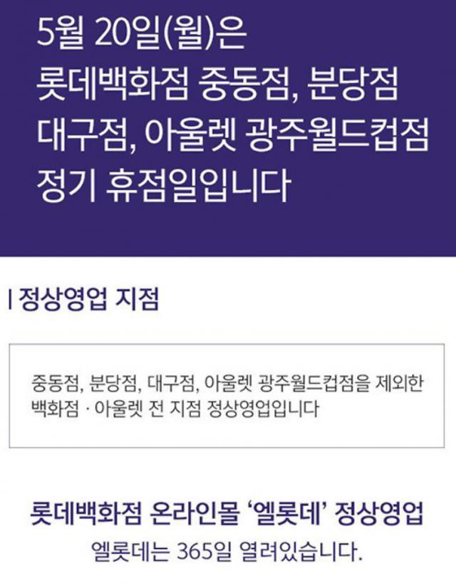 롯데·현대백화점 정기 휴무일 조정이 유니클로 감사제 때문?