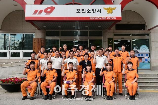 이화순 행정2부지사, 경기대진테크노파크,포천소방서 현장방문
