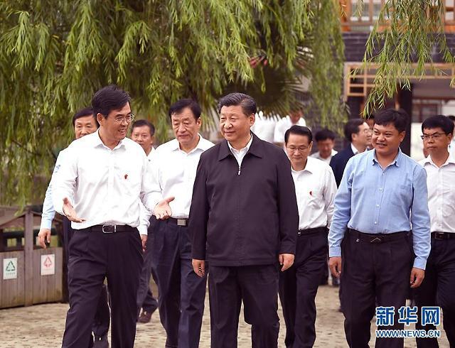 트럼프 보란듯...시진핑, 무역협상 대표와 희토류 공장 시찰