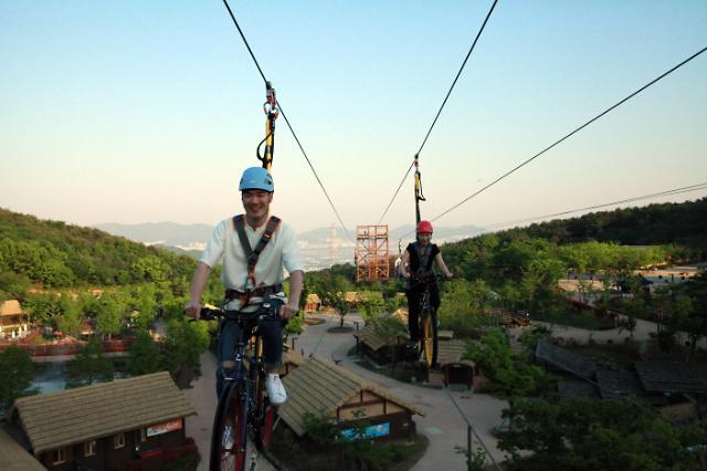 김해가야테마파크, 국내최대 22m 상공에서 즐기는 더블익스트림 오픈