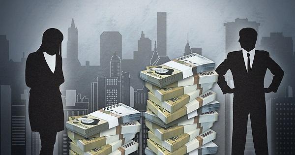大企业男女收入差距增大 女性薪水仅为男性的64%