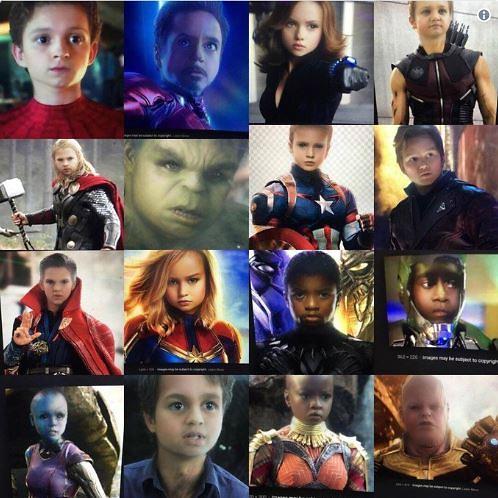 스냅챗 애기얼굴 어플 아이언맨·캡틴아메리카·스파이더맨·타노스 아기 어벤져스 모습은?