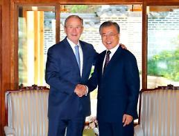 .文在寅接见美国前总统小布什.
