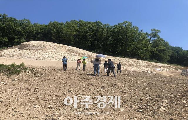 경주시, 경주 명활성 정비공사 문화재 수리현장 공개