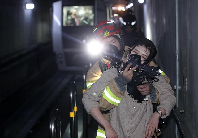 [포토] 인천국제공항에서 실시된 위기대응훈련