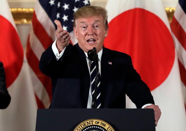 [포토] 일본 도착한 트럼프 미국 대통령
