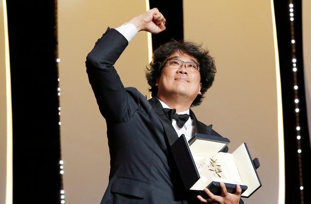 봉준호 기생충, 칸 황금종려상 수상…韓영화 최초