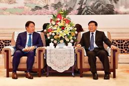 .多名中国政府高层月底访韩.