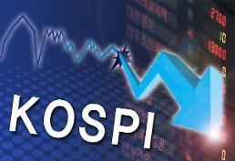 """.韩国kospi指数在外国投资者""""抛售""""中跌至2040."""