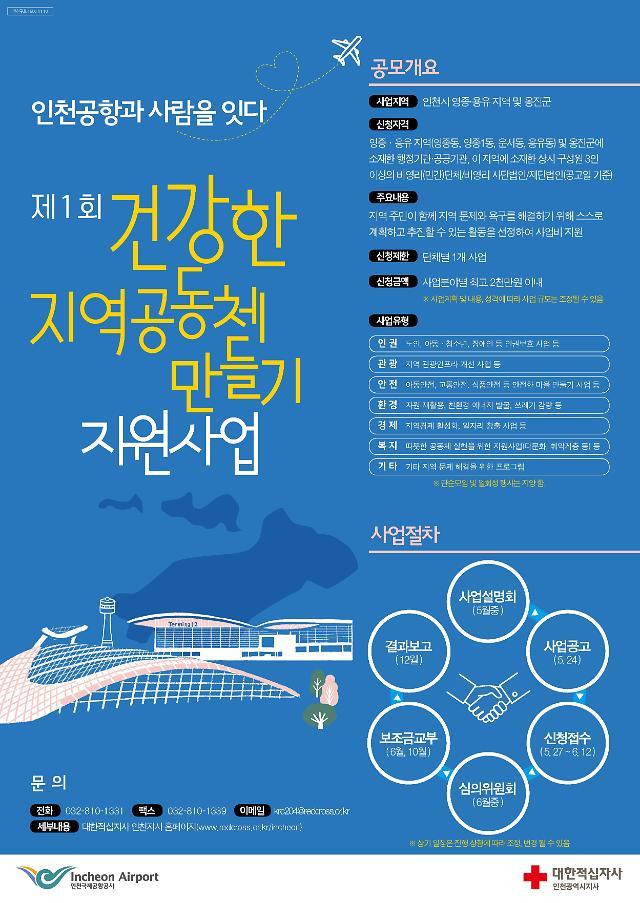 """인천국제공항공사,""""제1회 건강한 지역공동체 만들기 지원 사업""""공모"""
