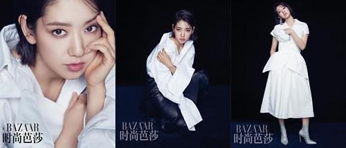 朴信惠为中国时尚杂志拍画报