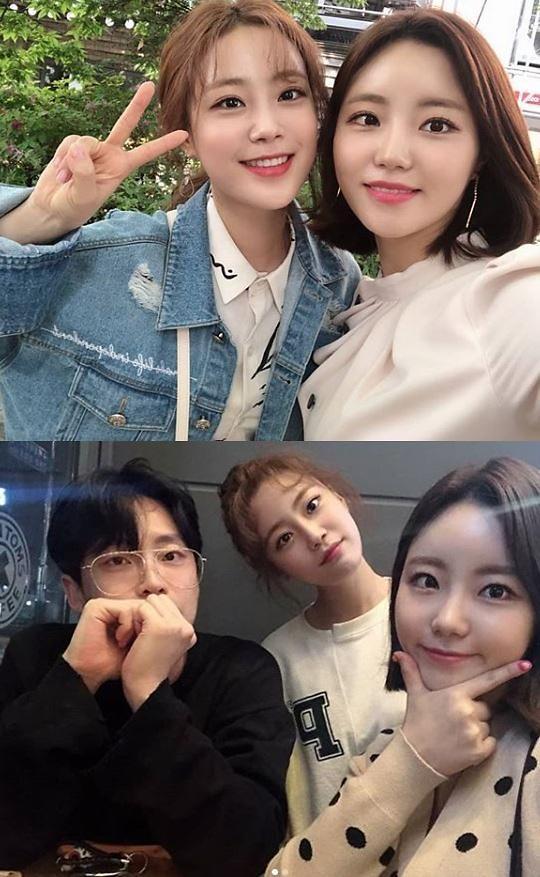 [#SNS★] 허영지 허송연 비주얼 허자매 사이좋게 브이(V)