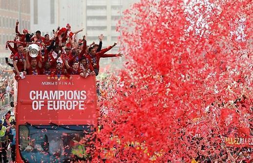UCL Championship Liverpool, cuộc diễu hành xe mừng đón cúp vàng