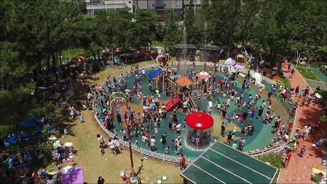 김해시, 도심속 피서지 기후변화 테마공원 물놀이시설 조기 개장