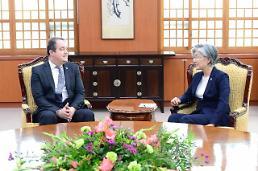 .康京和会见绿色气候基金秘书长.
