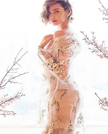 """[슬라이드 #SNS★] 스냅챗 사모님 미란다커 만삭에도 환상적 몸매…""""역시 모델은 모델"""""""