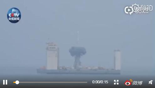 [중국포토] 서해에서 쏘아올린 로켓