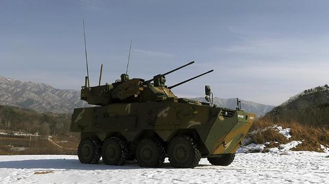 New 30-mm self-propelled anti-aircraft gun passes military