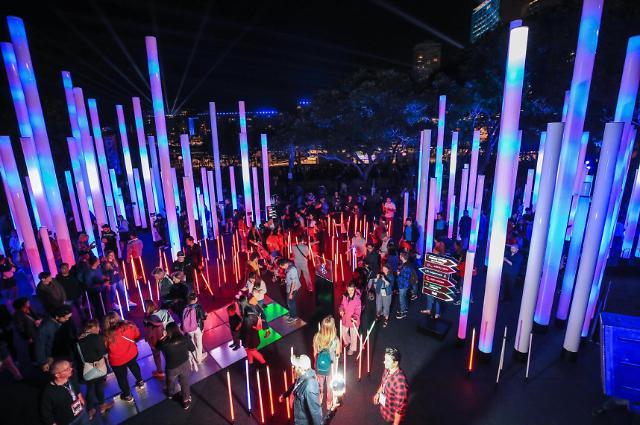 삼성전자, 호주 최대 빛 축제 '비비드 시드니' 참가
