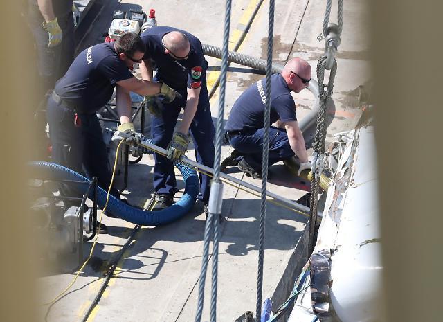[헝가리 유람선 침몰] 선체인양 완료…6세 여아 등 한국인 시신 3구 수습