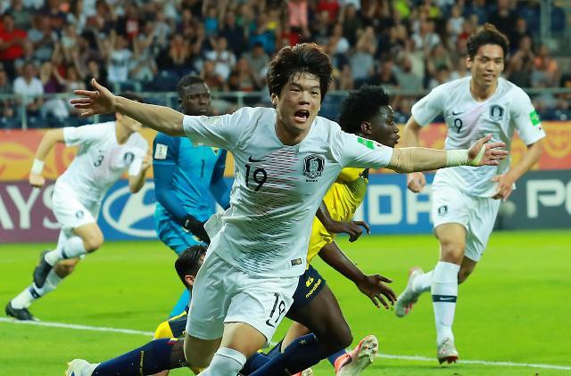 [U20 월드컵] 이강인-최준 합작 한국, 에콰도르 꺾고 사상 첫 결승행…우크라이나와 16일 격돌(종합)