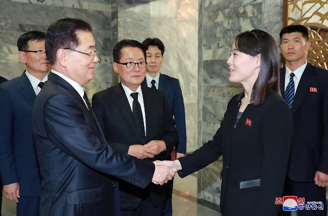 """北, 김여정 통해 조의...靑 """"대화 의지로 해석할 여지 있어"""""""