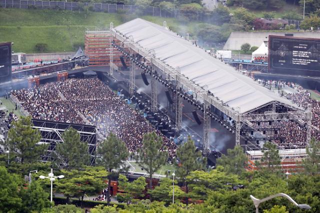 [포토] 이시각 방탄소년단 부산 콘서트 내부 모습