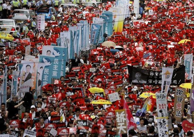 홍콩 시위대 임을 위한 행진곡…수출된 민주화 가요의 비밀