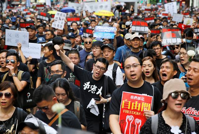 [포토] 홍콩 송환법 철회 검은 대행진
