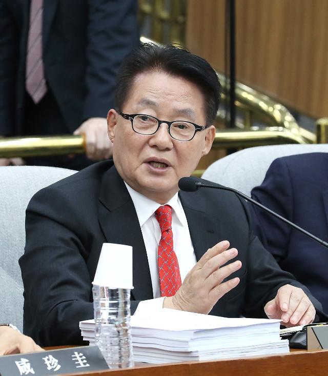 """박지원 """"6월 말 한미정상회담 전...남북정상회담 가능성 배제할 수 없어"""""""