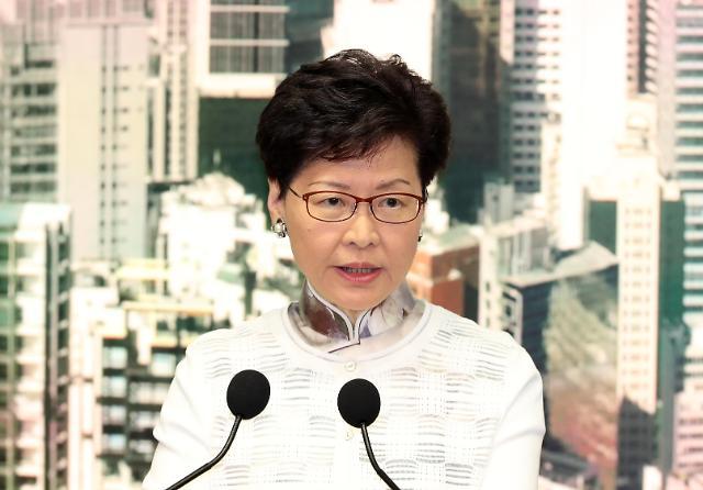 中 캐리 람 홍콩 행정장관 지지... 교체설 일축